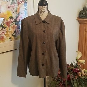 XL Herringbone Pattern Jacket